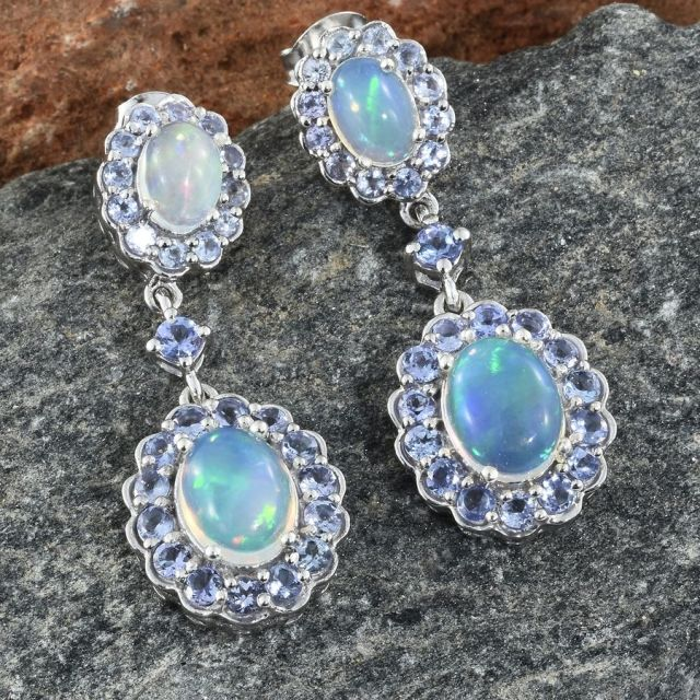 Opal cabochon earrings at TJC