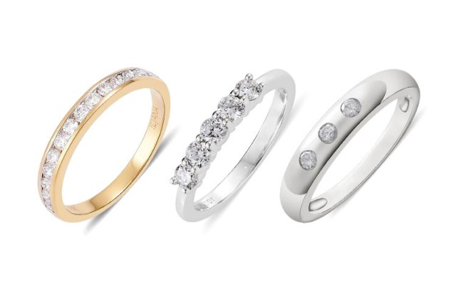 Different stone setting of the perfect wedding ring