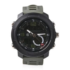Japanese and Electronic Movement 5ATM Water Resistant Sports Watch