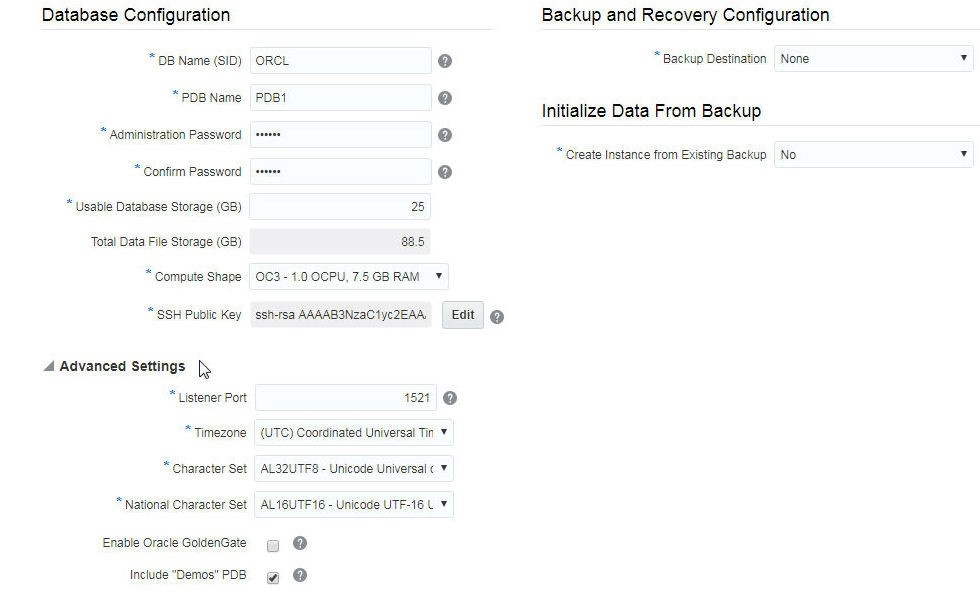 Using Oracle Database 12c Service PDBs on Oracle Cloud