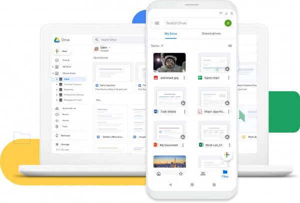 Product image for Google Drive, one of the most widely used online collaboration tools