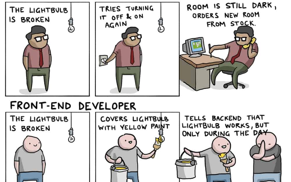 IT Jobs Explained With A Broken Lightbulb  Toggl Blog