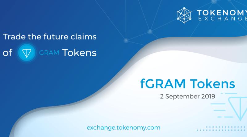 Trade the future claims of GRAM Tokens - fGRAMTokens