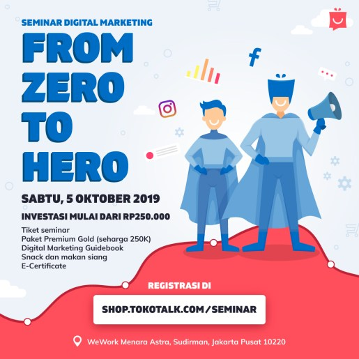 seminar digital marketing: from zero to hero
