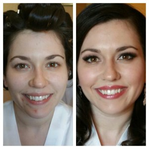 bridal makeup before and after Makeup Artist Kim