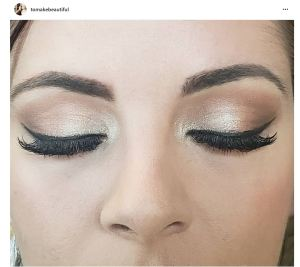 winged eye liner  makeup by Kim