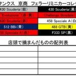 サークルKサンクス 京商 1/64 フェラーリミニカーコレクション11 配列表