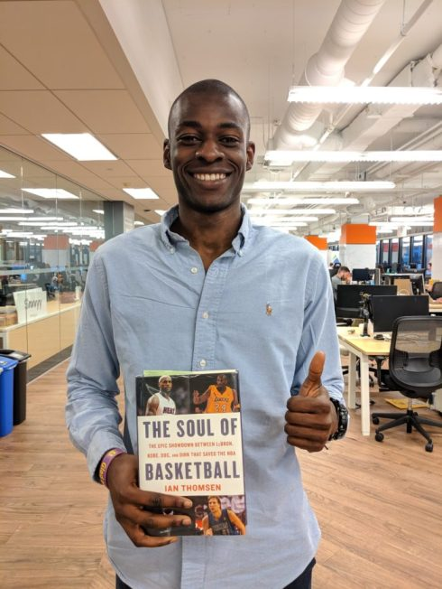 Tomiwa with Soul of Basketball Book