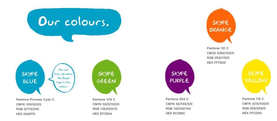 Bảng màu của Skype