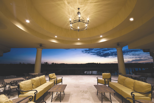 Clubhouse Outdoor Seating Area