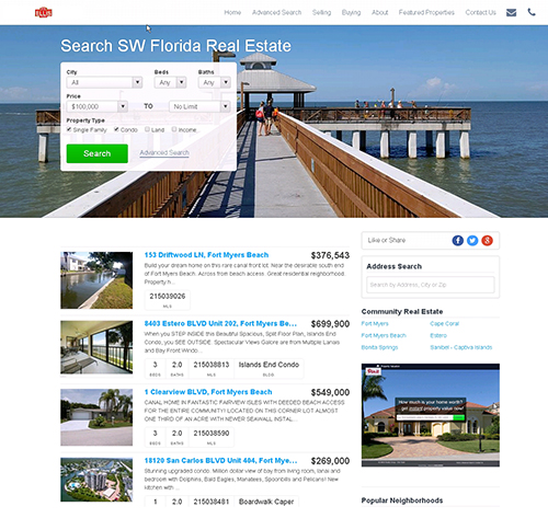 Property Search Site For Consumers in SW Florida