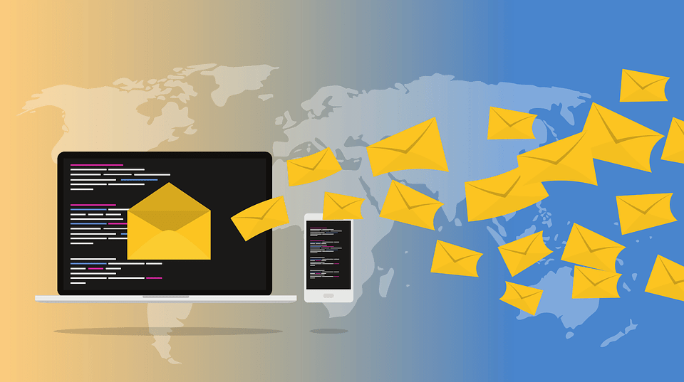 emails all over the world