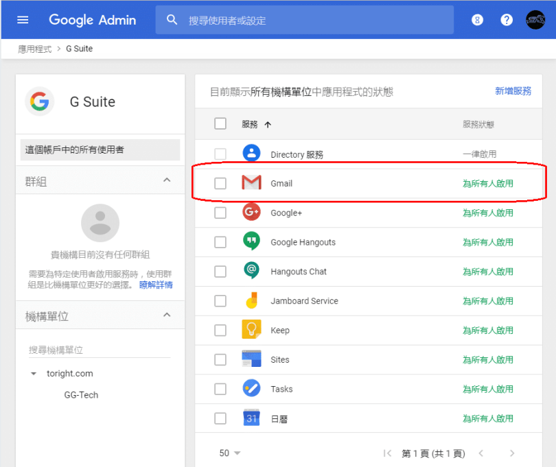 Gmail Admin