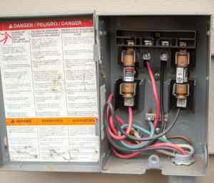 electrical shutoff box detail