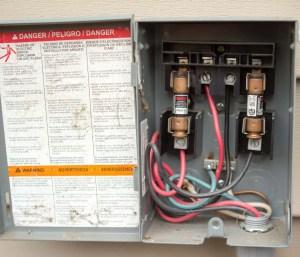 electrical shutoff box detail