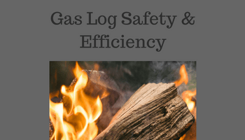 Gas log safety and efficiency