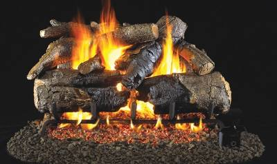 Image of RH Peterson Real-Fyre Charred American Oak Log Set