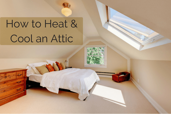 Heating and cooling an attic space