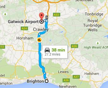 Taxi Brighton to Gatwick