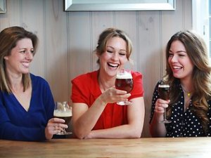 Women drinking craft beer