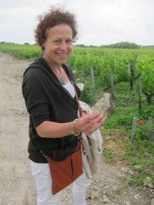 Claire Villars-Lurton shows us the gravel soil from Chateau Haut-Bages Liberal and famous neighbors Entrance to Chateau Haut-Bages Liberal
