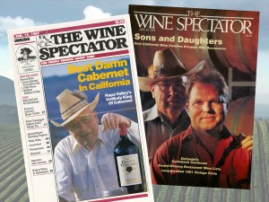 6 -Wine Spectator magazine covers featuring Charlie and Chuck Wagner (1)