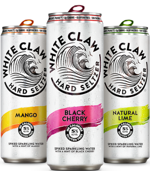 White Claw hard seltzer from their home page