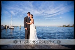 Bride & Groom at Annapolis Maritime Museum Wedding