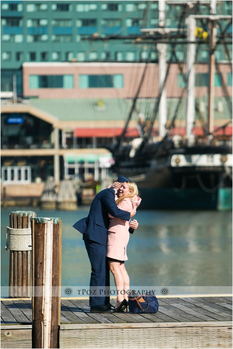 Surprise Engagement Proposal in Baltimore's Inner Harbor