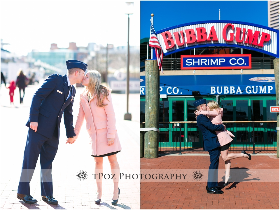 Baltimore Inner Harbor Engagement Photos