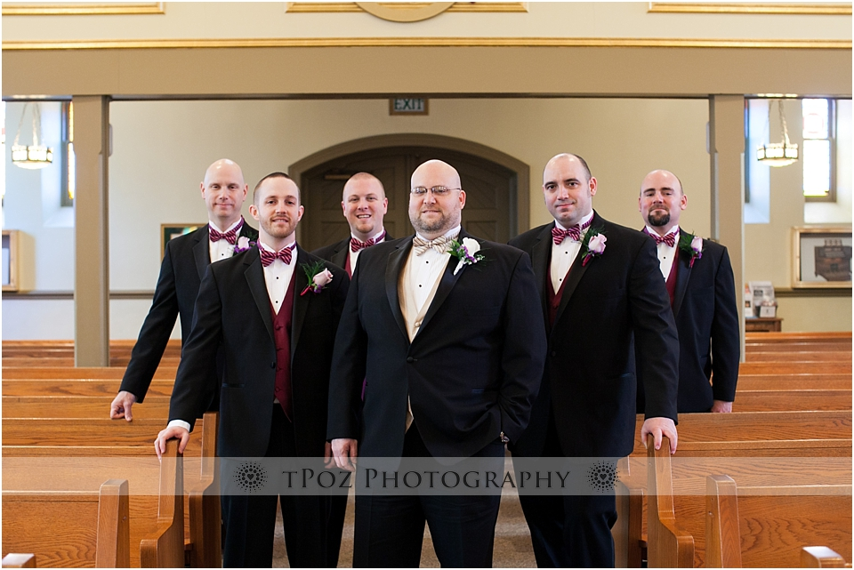 Groomsmen Photo in church