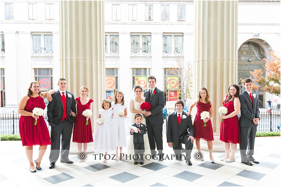 Baltimore Basilica Wedding Bridal Party