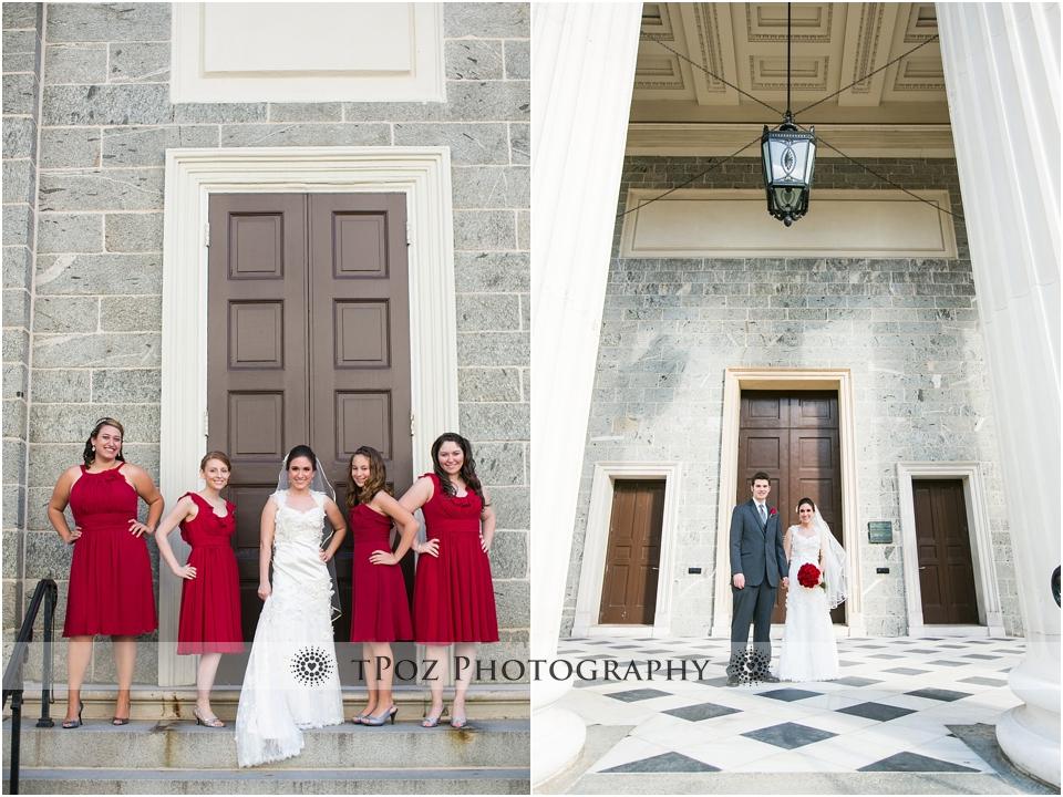 Baltimore Basilica Wedding Bridal Party