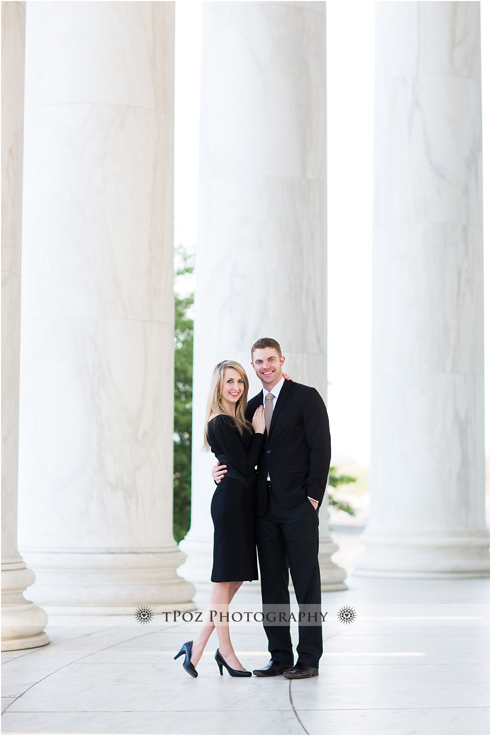 Jefferson Memorial Engagement Photo
