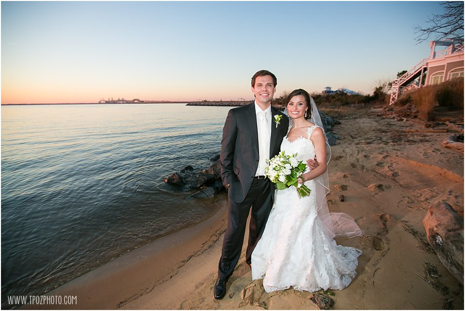 Chesapeake Bay Beach Club Wedding Portraits