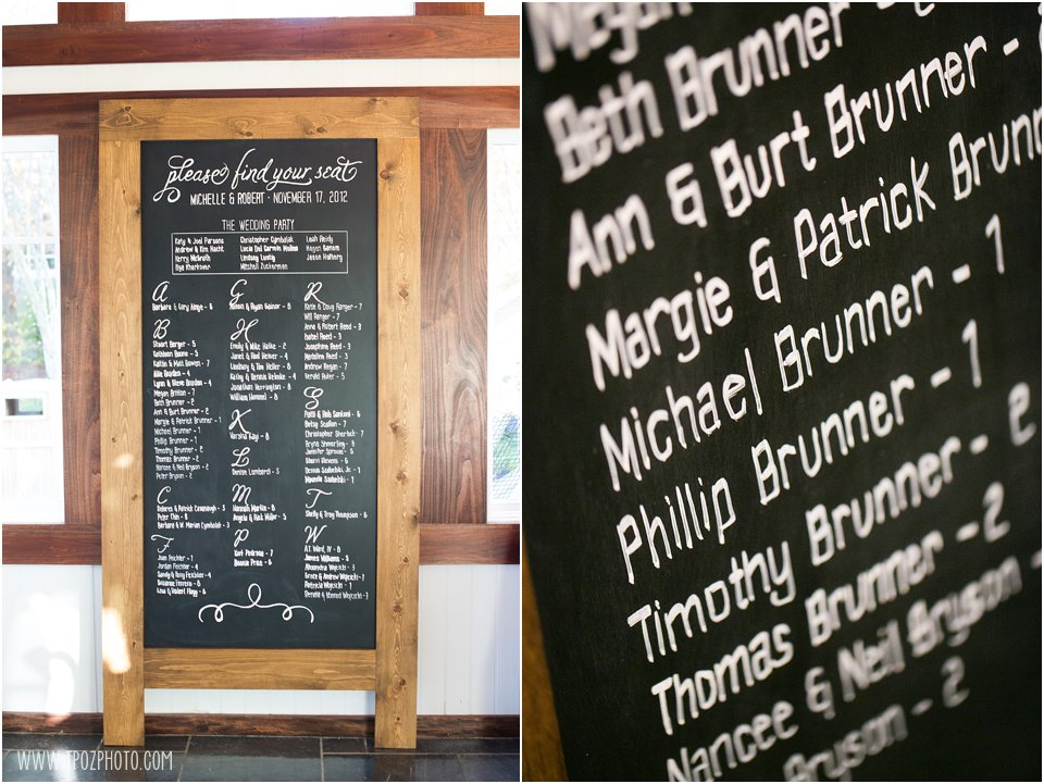 Chalkboard Seating Assignment