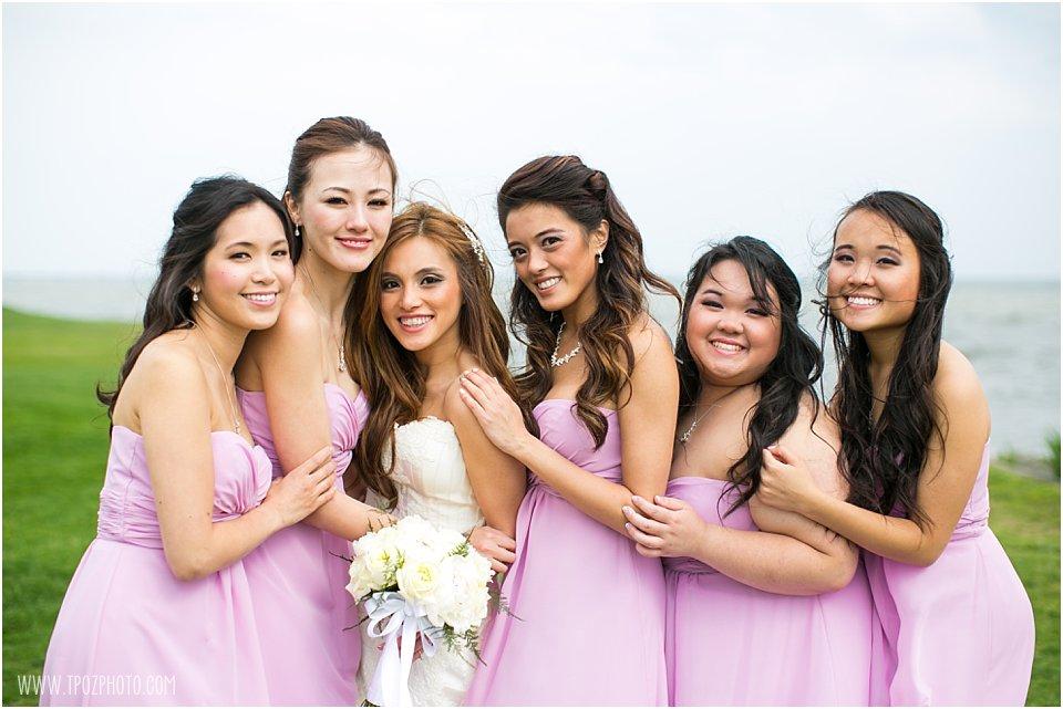 Rehoboth Beach Wedding Portraits Bridesmaids