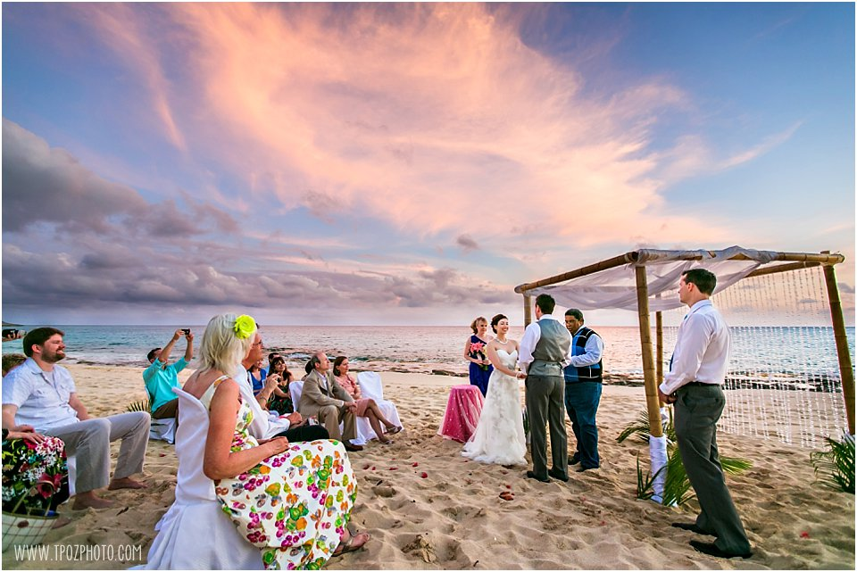 St. Martin Beach Wedding Ceremony Photos