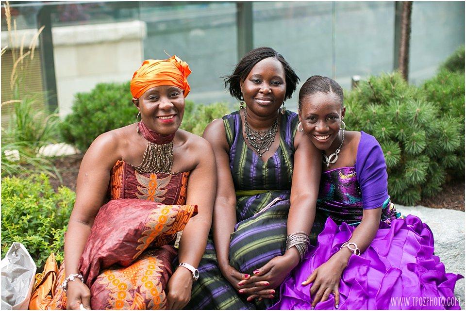 West African Wedding guests