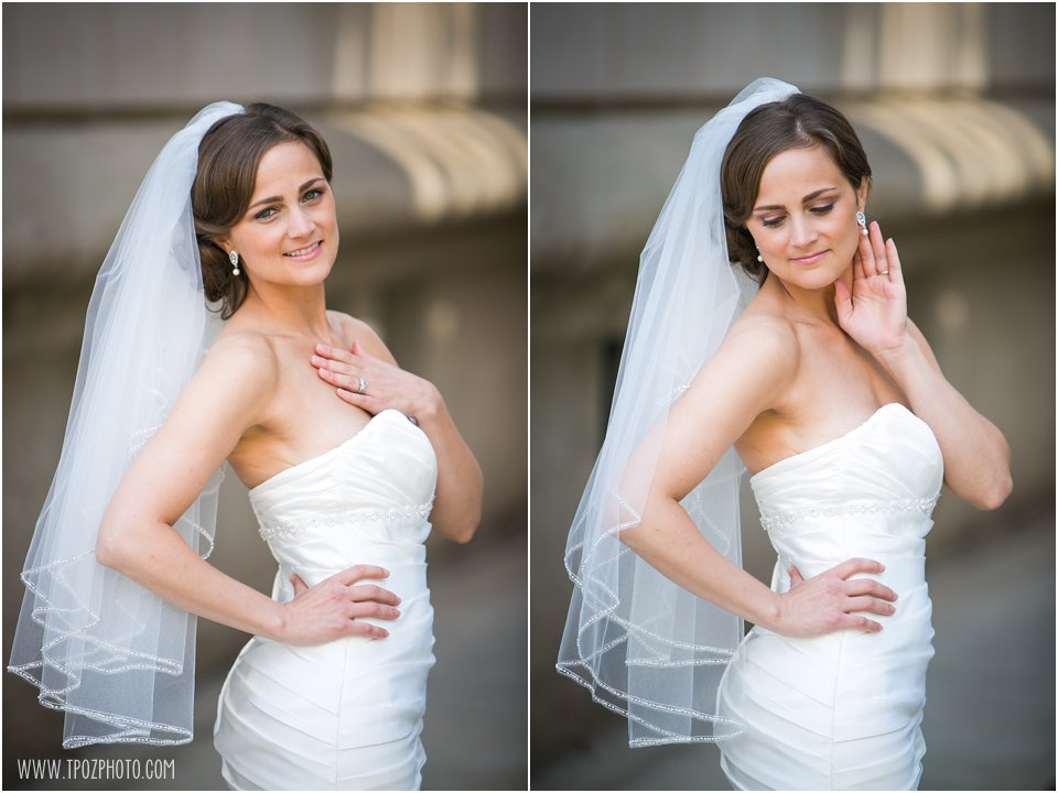 Same-sex wedding bridal portraits
