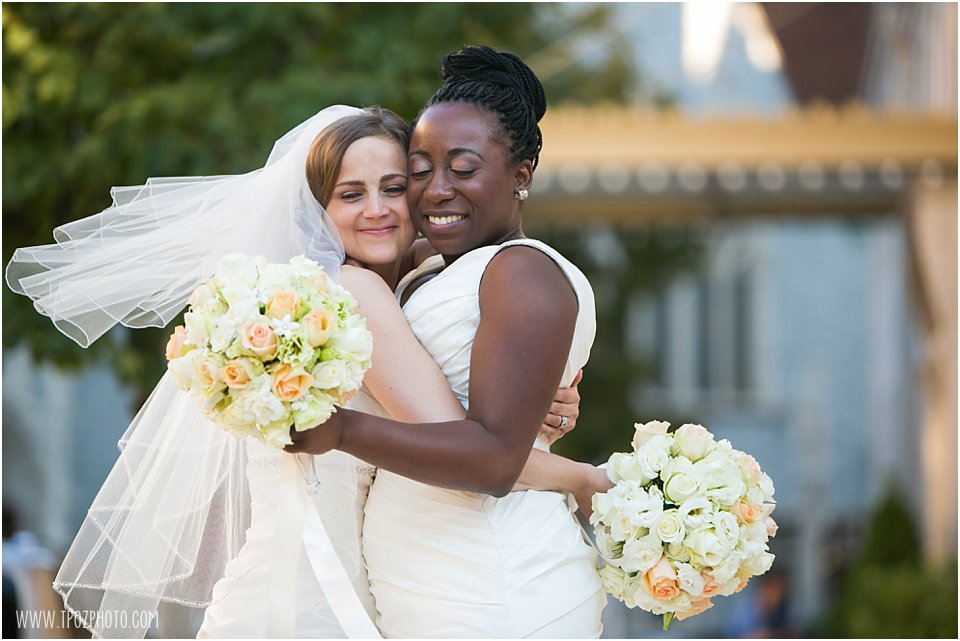 Baltimore Same-sex wedding bridal portraits