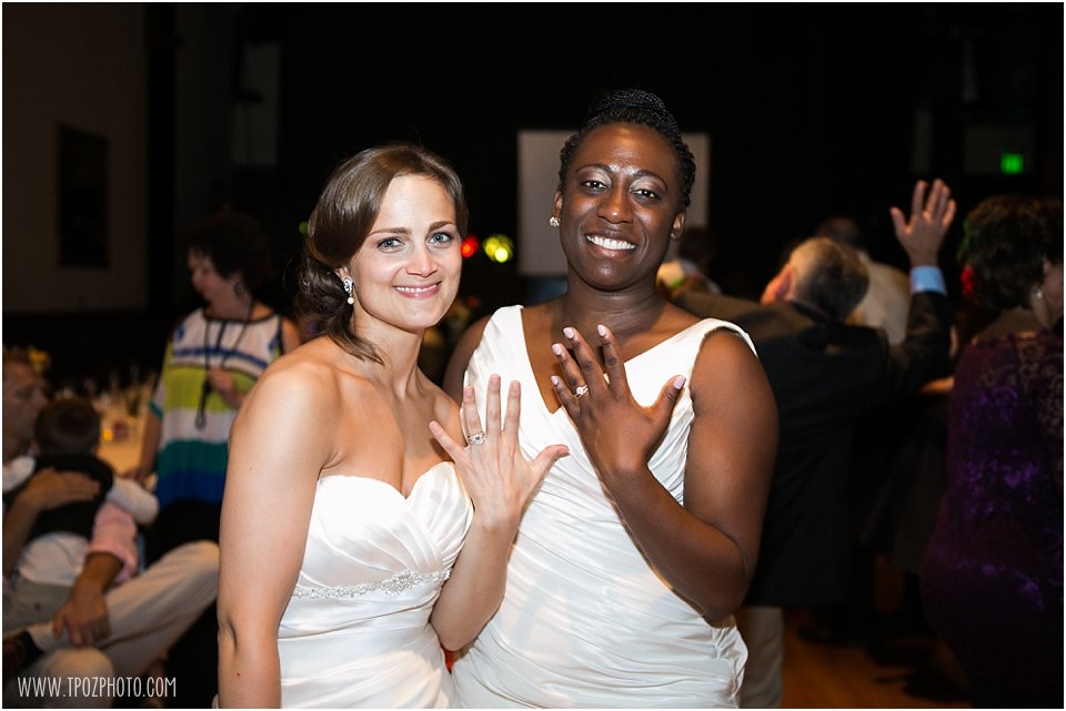 Same-sex wedding reception