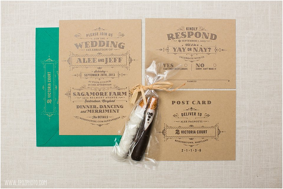 Sagamore Farm Wedding Invitation