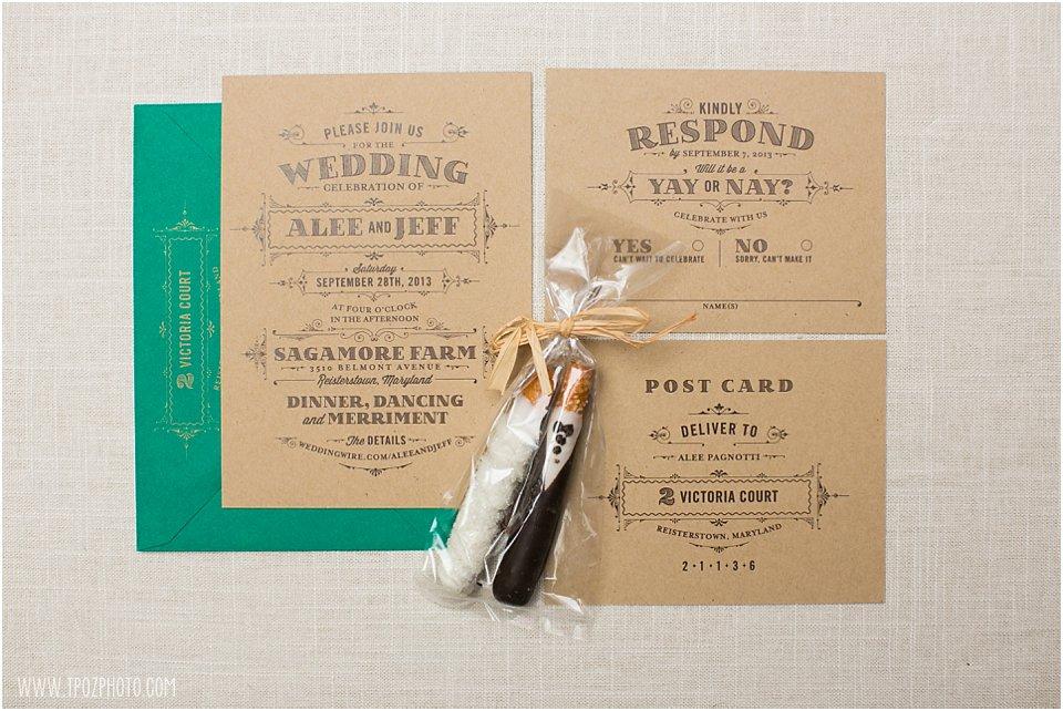 Sagamore Farm Wedding Invitation