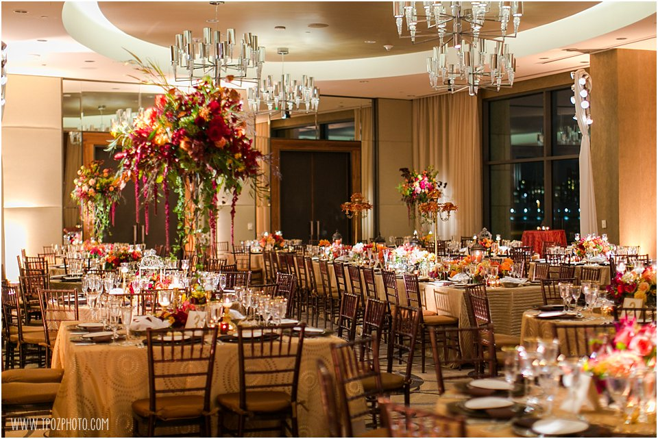 Four Seasons Hotel Baltimore Wedding Reception in the Cobalt Ballroom