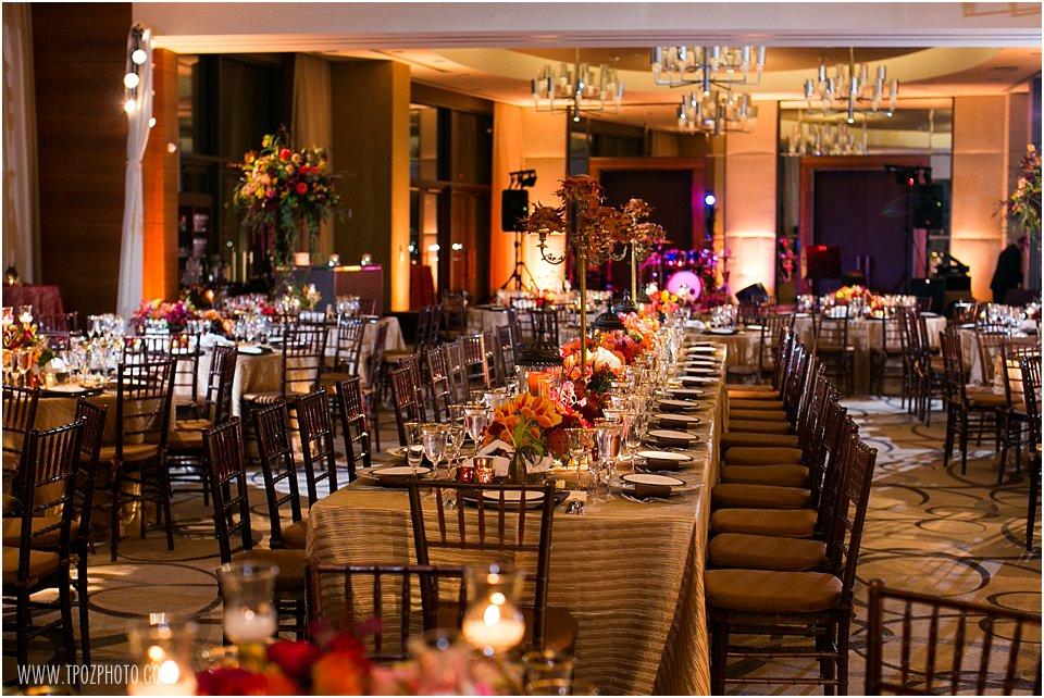 Four Seasons Baltimore Wedding Reception in the Cobalt Ballroom