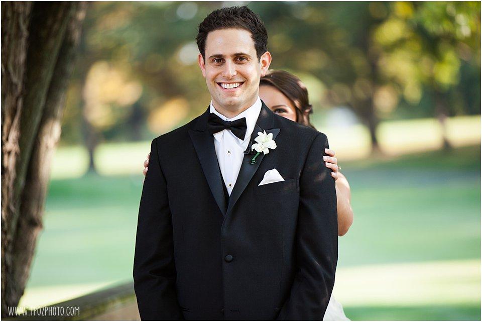 First Look - Suburban Club Wedding