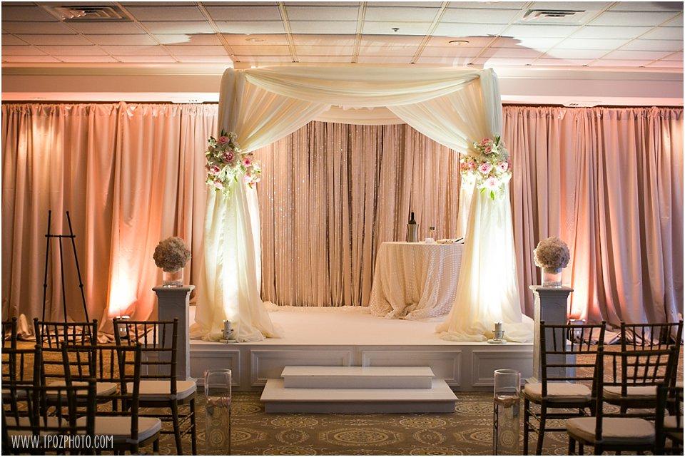 Huppah set up for Jewish Wedding at Suburban Club