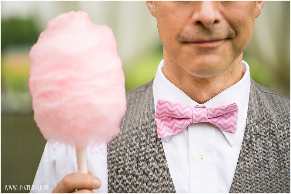 Cotton Candy & Pink Chevron Bow Tie