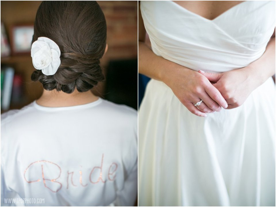 Bride's updo hairstyle